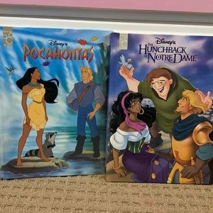 Mouse works Disney Pocahontas hunchback kids books